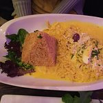 Aji de Gallina. If you like a dish that is less spicy, this is for you. $18.00
