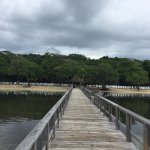 The snorkeling was beyond the end of a long pier.