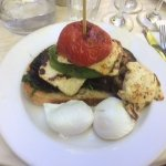 Steve's Breakfast with poached eggs - delicious!