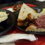 1/2 corned beef sandwich