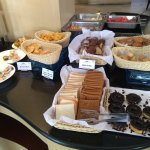 Buffet breakfast spread