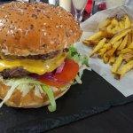Burger double steak et frites maison