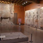 Assyrian sculptures from kings palace