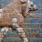 "Babylonian ""Striding Lion"" made of glazed brick"