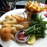 Feast's crispy squid & battered tiger prawn
