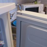 broken fridge freezer door