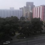 View from my room at the Holiday Inn downtown overlooking a park