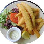 Fish and chips at the Mercantile Hotel