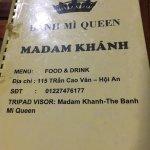 Photo de Madam Khanh - The Banh Mi Queen