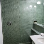 Spacious shower stall