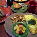 Tuscan Omelette with Muffin & Sausage