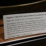"""Informational plaque about the """"Engineer's Map"""" of St. Louis"""