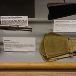 Field Glasses and horse gauntlets