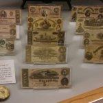 Confederate money display