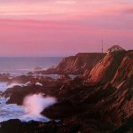 Pink Champagne Sunset at the Point Arena Lighthouse