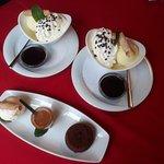 Moelleux au chocolat et coupe Danemark