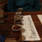 a flight of yummy beer