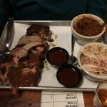 1/2 rack of ribs, cole slaw & baked beans....yumm!