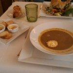 soupe de poisson : croquant au chèvre