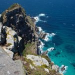 From the lighthouse looking down at Cape Point