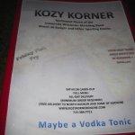 Foto de Kozy Korner Bar and Pizza