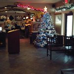 Main Lobby, decorated for the Christmas Holiday