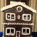 Gingerbread house in the lobby of the hotel