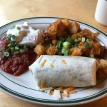 The small burrito breakfast -- for three dollars more you can have another burrito!