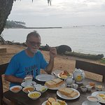 Marvellous Sri Lankan breakfast right by the sea