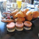 Croissant and Jam selection
