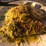 Yellowtail snapper over linguini!