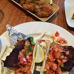 Crumbed Oysters, Blackened Snapper Fish Tacos