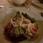 Pork belly with coconut salad