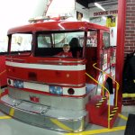 driving the cab for the hook & ladder apparatus