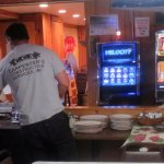 the buffet line and video gaming machines