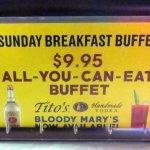 table card for Sunday breakfast buffet