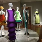 The fashion exhibit of mostly Pierre Cardin's work.