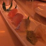 Salmon, red snapper, & yellow tail Sushi