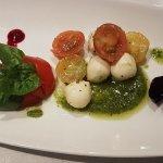 Mozzarella Mini Balls  with Basil and Pesto