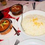 Chicken Jalfrezi und Chicken Tikka Masala Zweierlei Naan