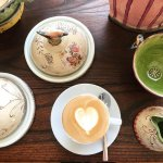 Our delicious Lavazza coffee hanging with some of our exquisite pottery pieces!