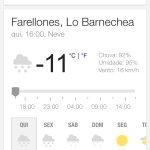 Temperatura do dia.