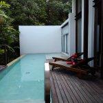 Villa pool and outdoor deck, jungle villa