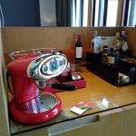 Coffee machine and bar area