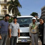 From left to right(Aritro, our driver, Lekh, myself) -- To remember Lekh
