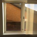 draughty window overlooking a brick wall!!! poor room!!