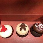 Mini cupcake sampler box $5.00  Red velvet, gingerbread, peppermint (seasonal flavors)