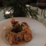 Try the shrimp and scallops!