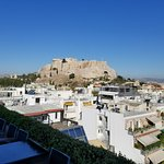 View from restaurant at top of athens gate