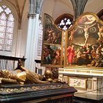 Triptych and royal tombs inside the church